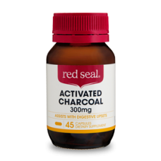 Red Seal, Activated Charcoal 300mg, Dietary Supplements,  CAP × 45