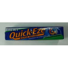 Quick-Eze, Rapid Relief of Heartburn & Indigestion, Peppermint flavor, Chewable Antacid Tablets × 8