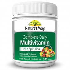 Nature's Way Complete Daily Multivitamin Plus Spirulina, Dietary Supplement