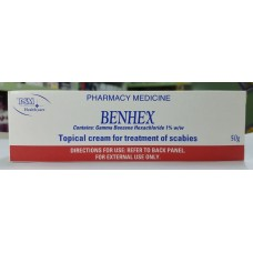 Benhex, Topical cream for the treatment of scabies, 50g