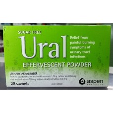 Aspen Ural Effervescent powder, Relief from painful burning symptoms of urinary tract infections